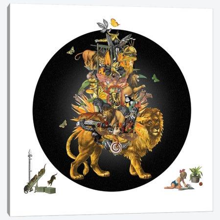 Cirque Des Enfants: The Lion'S Share Canvas Print #NCL39} by Jana Nicole Canvas Art Print