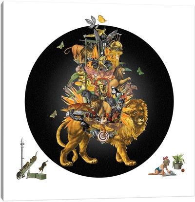 Cirque Des Enfants: The Lion'S Share Canvas Art Print