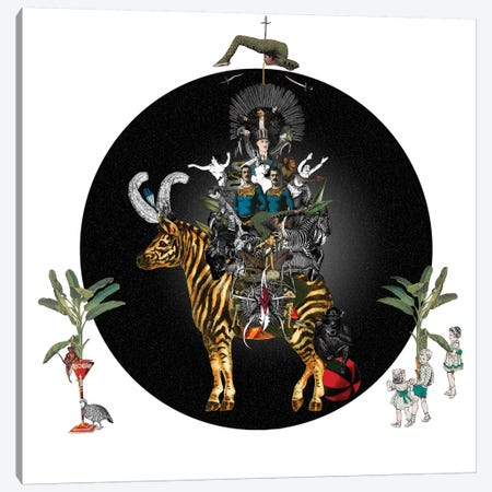 Cirque Des Enfants: Zebra Crossing Canvas Print #NCL40} by Jana Nicole Canvas Art