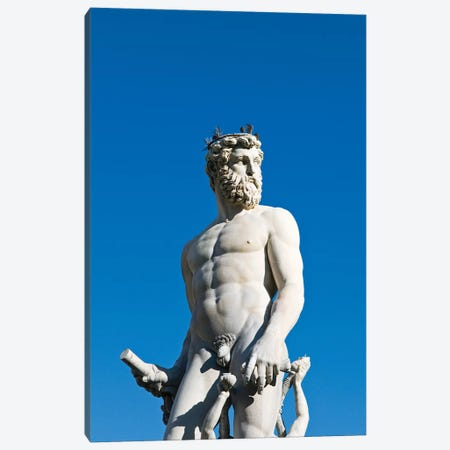 Neptune Figure, Fountain Of Neptune, Piazza della Signoria, Florence, Tuscany Region, Italy Canvas Print #NCO1} by Nico Tondini Canvas Art