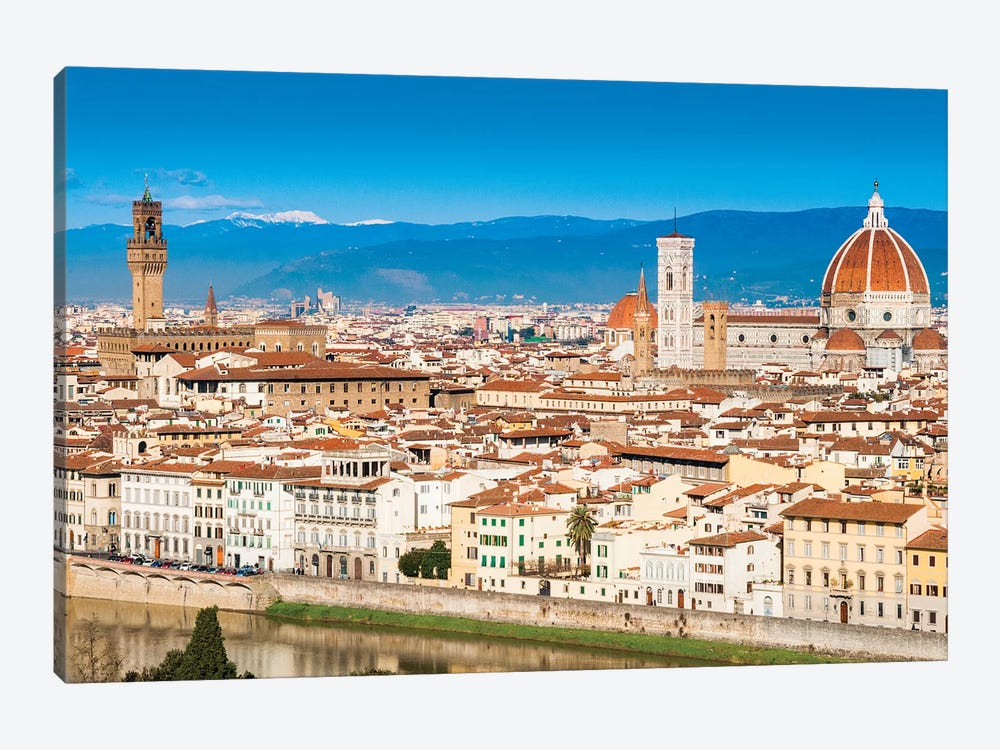 Historic Center Cityscape, Florence, Tuscany Region, Italy 1-piece Canvas Artwork