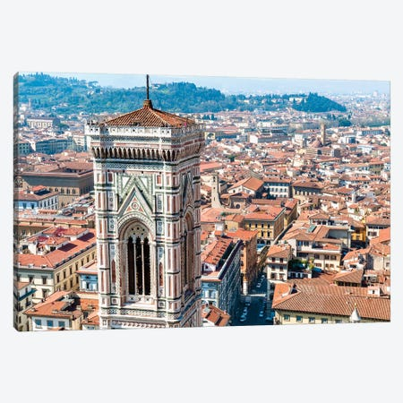 Top Level, Giotto's Campanile, Piazza del Duomo, Florence, Tuscany Region, Italy Canvas Print #NCO4} by Nico Tondini Canvas Art Print
