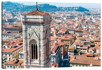 Top Level, Giotto's Campanile, Piazza del Duomo, Florence, Tuscany Region, Italy Canvas Art Print