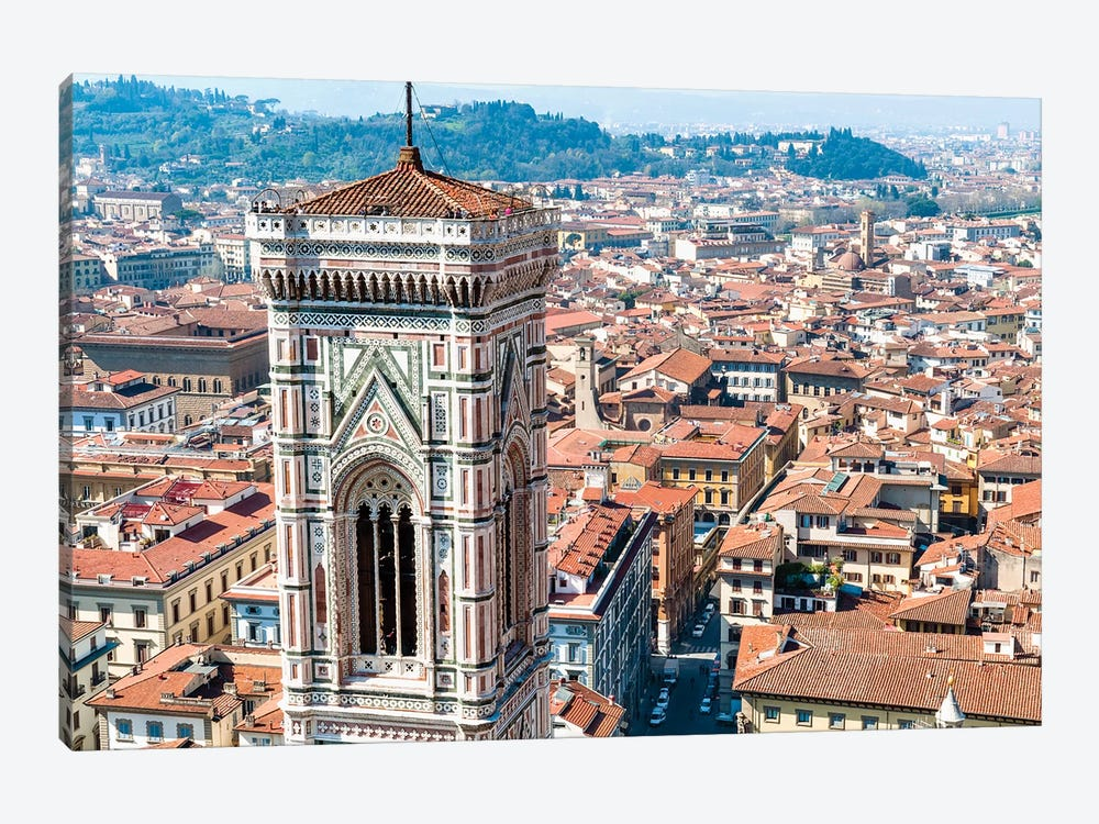 Top Level, Giotto's Campanile, Piazza del Duomo, Florence, Tuscany Region, Italy by Nico Tondini 1-piece Canvas Art Print