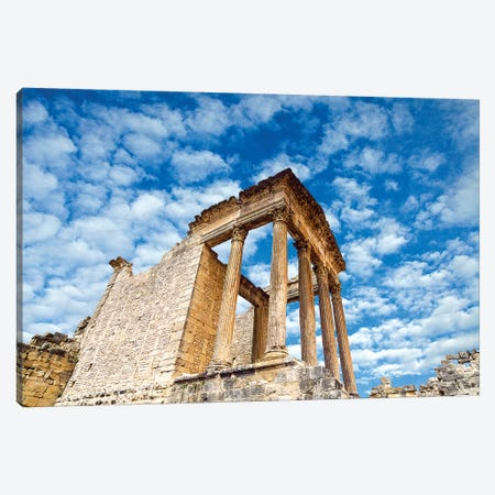 The Capitol, Dougga Archaeological Site, Tunisia II Canvas Print #NCO7} by Nico Tondini Canvas Art Print