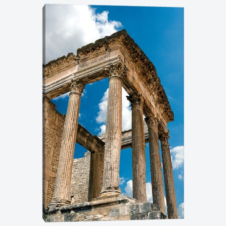 The Capitol, Dougga Archaeological Site, Tunisia III Canvas Print #NCO8} by Nico Tondini Canvas Wall Art