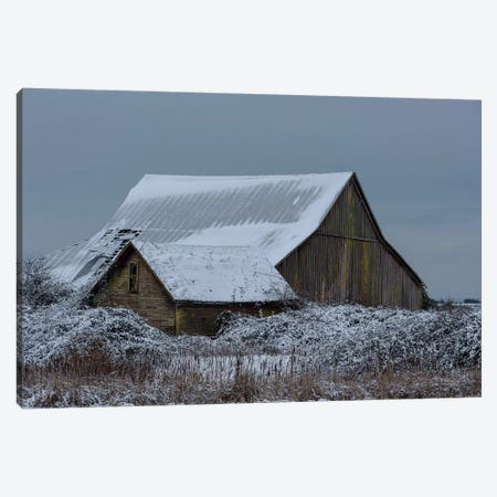Winter Barn Canvas Print #NCR17} by Nancy Crowell Canvas Wall Art