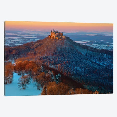 Hohenzollern In Winter Mood 3-Piece Canvas #NCS7} by Nicolas Schumacher Canvas Artwork