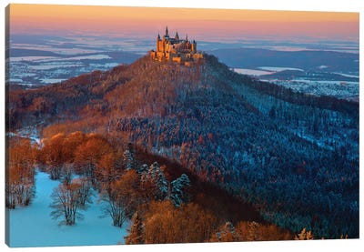 Hohenzollern In Winter Mood Canvas Art Print