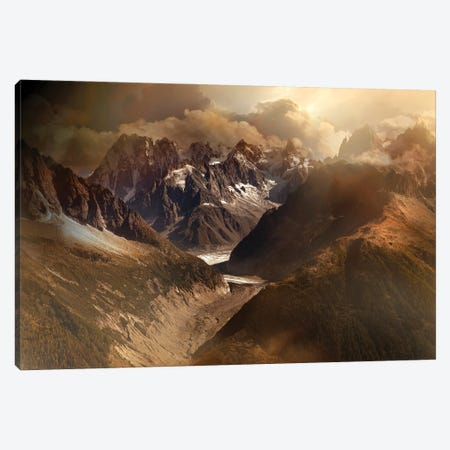Mont Blanc Massiv 3-Piece Canvas #NCS9} by Nicolas Schumacher Art Print