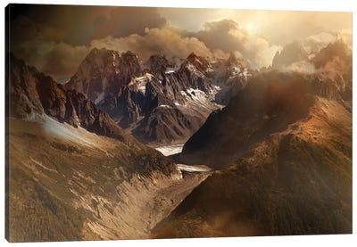 Mont Blanc Massiv Canvas Art Print
