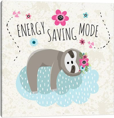 Energy Saving Mode Canvas Art Print
