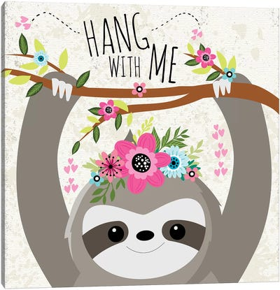 Hang With Me Canvas Art Print