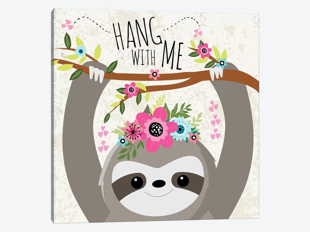 Hang With Me by ND Art & Design 1-piece Canvas Wall Art