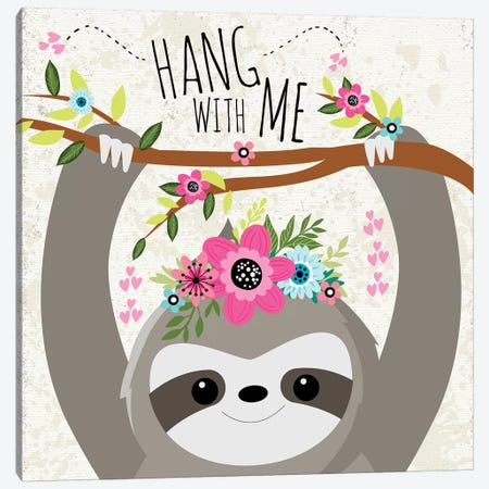 Hang With Me Canvas Print #NDA2} by ND Art & Design Canvas Print