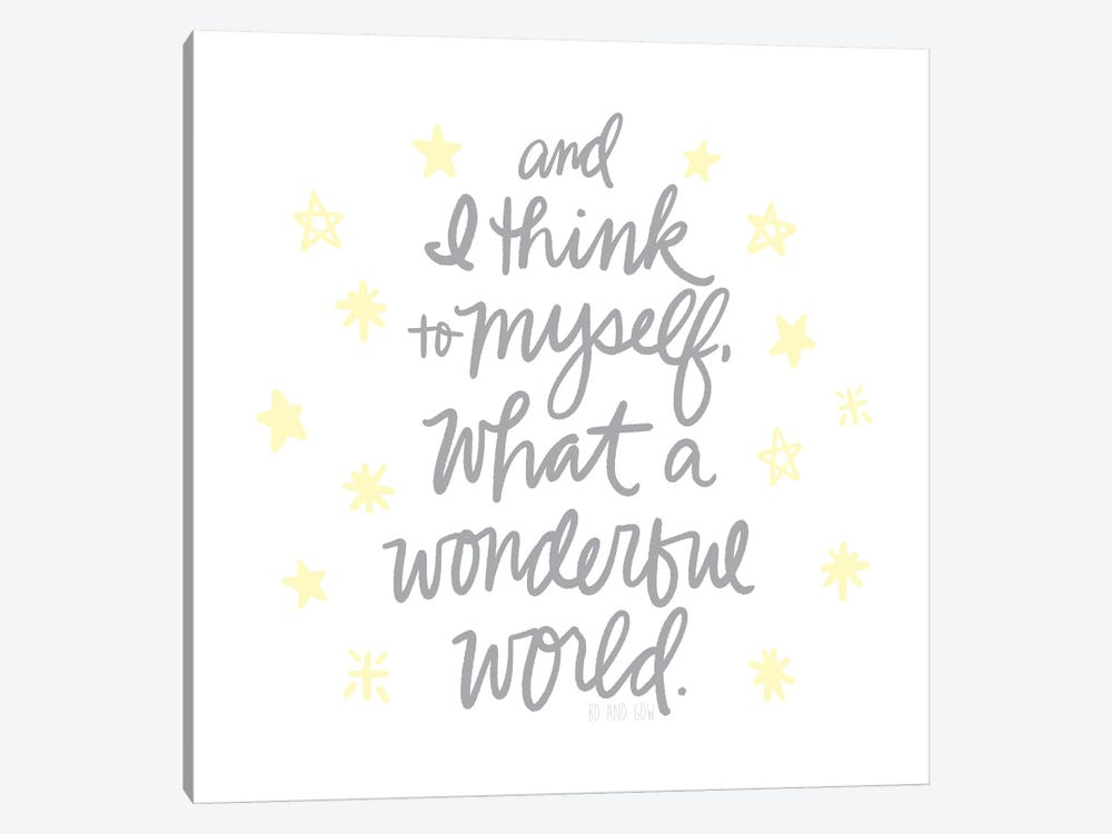 Wonderful World II by Noonday Design 1-piece Canvas Wall Art