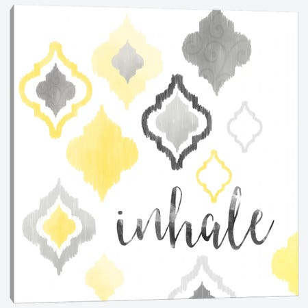 Yellow Gray Moroccan Sentiment I 3-Piece Canvas #NDD106} by Noonday Design Canvas Art
