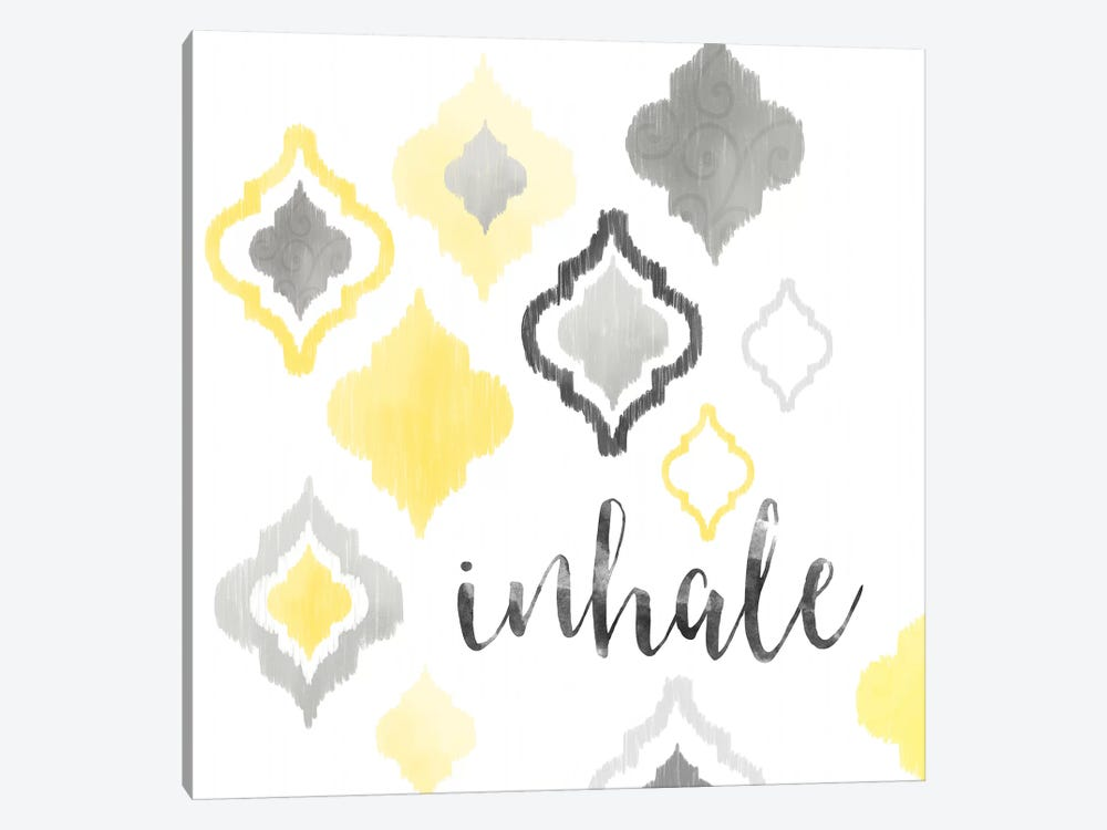 Yellow Gray Moroccan Sentiment I by Noonday Design 1-piece Canvas Art Print