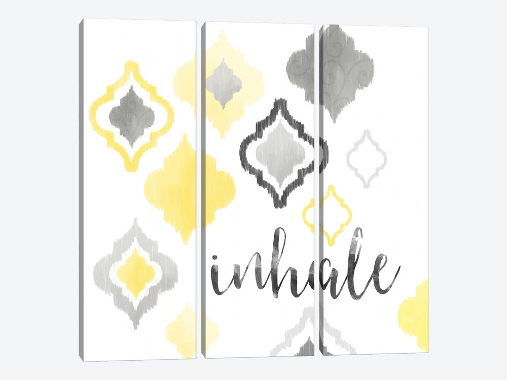 Yellow Gray Moroccan Sentiment I by Noonday Design 3-piece Canvas Art Print