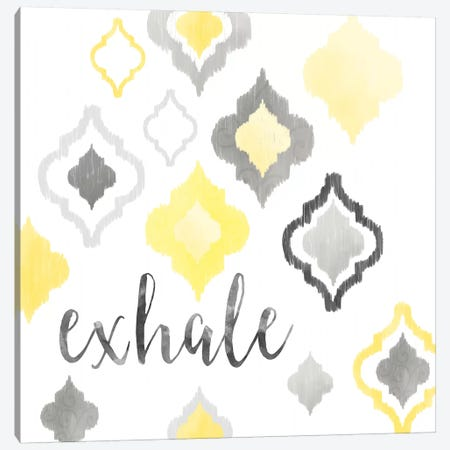 Yellow Gray Moroccan Sentiment II Canvas Print #NDD107} by Noonday Design Canvas Wall Art