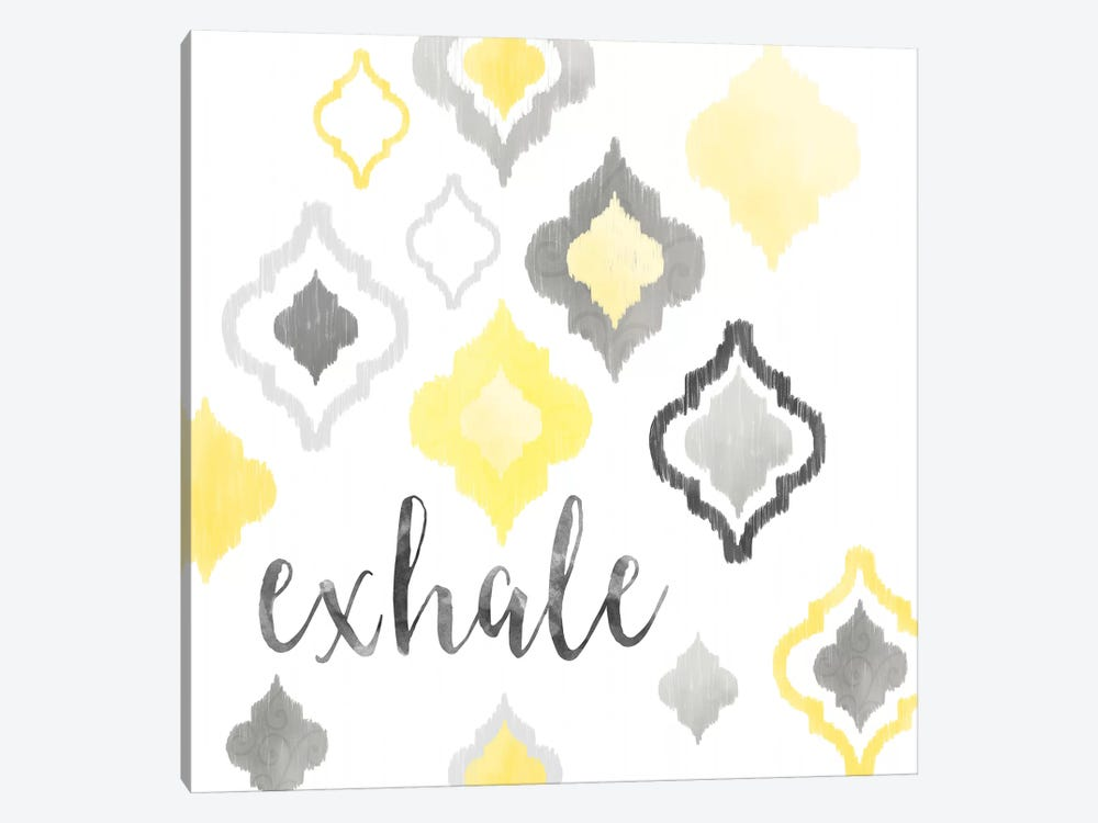 Yellow Gray Moroccan Sentiment II by Noonday Design 1-piece Canvas Wall Art