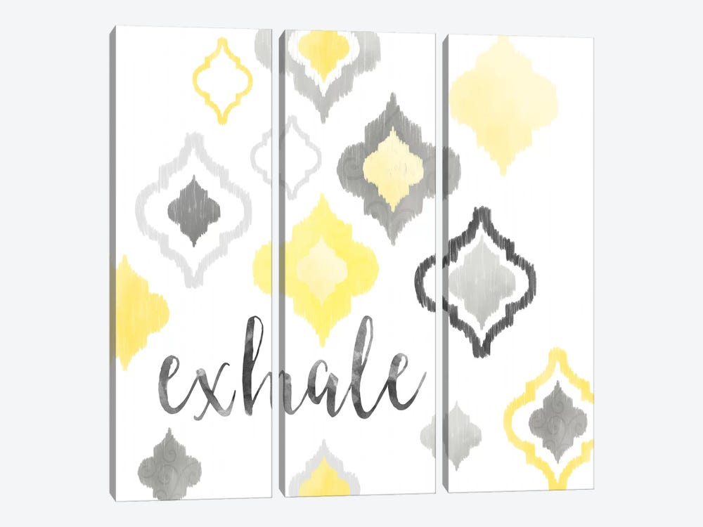 Yellow Gray Moroccan Sentiment II by Noonday Design 3-piece Canvas Art