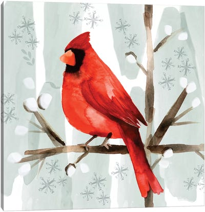 Christmas Hinterland I - Cardinal Canvas Art Print