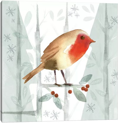 Christmas Hinterland III - Robin Canvas Art Print