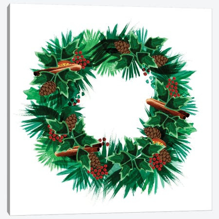 Christmas Hinterland IV - Wreath Canvas Print #NDD115} by Noonday Design Canvas Art Print