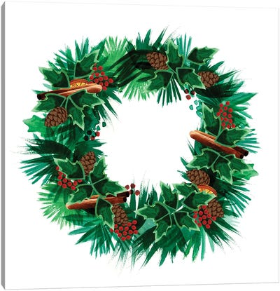 Christmas Hinterland IV - Wreath Canvas Art Print