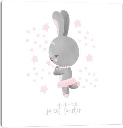 Ballerina Bunny II Canvas Art Print