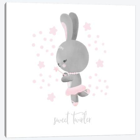 Ballerina Bunny II Canvas Print #NDD11} by Noonday Design Canvas Art