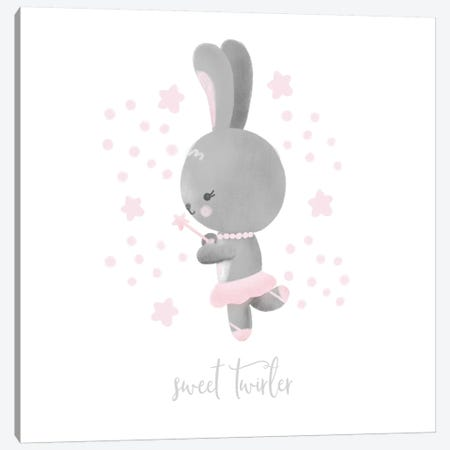 Ballerina Bunny II 3-Piece Canvas #NDD11} by Noonday Design Canvas Art