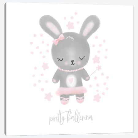 Ballerina Bunny III Canvas Print #NDD12} by Noonday Design Canvas Wall Art