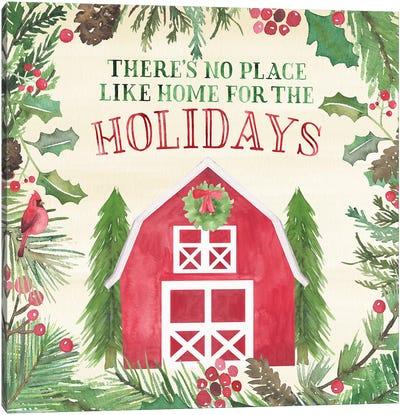 New England Christmas I Canvas Art Print
