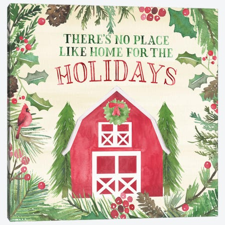 New England Christmas I Canvas Print #NDD131} by Noonday Design Canvas Art