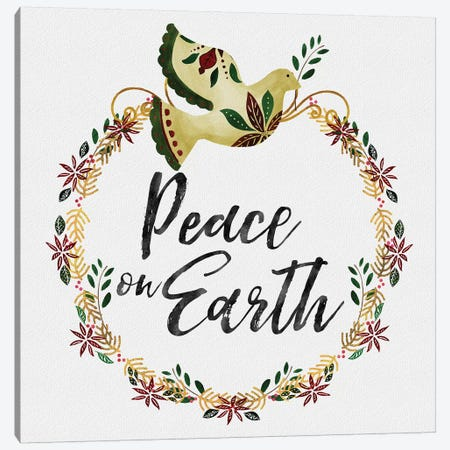 Peace and Joy I Canvas Print #NDD133} by Noonday Design Canvas Art