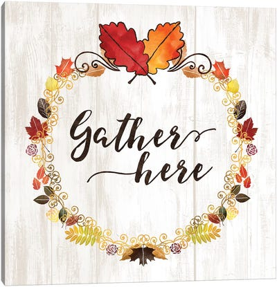 Pumpkin Spice Gather Here Canvas Art Print