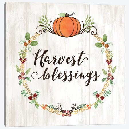 Pumpkin Spice Harvest Blessings Canvas Print #NDD136} by Noonday Design Canvas Print