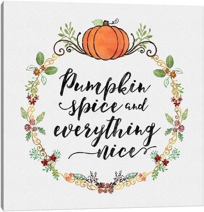 Pumpkin Spice Sentiment II Canvas Art Print