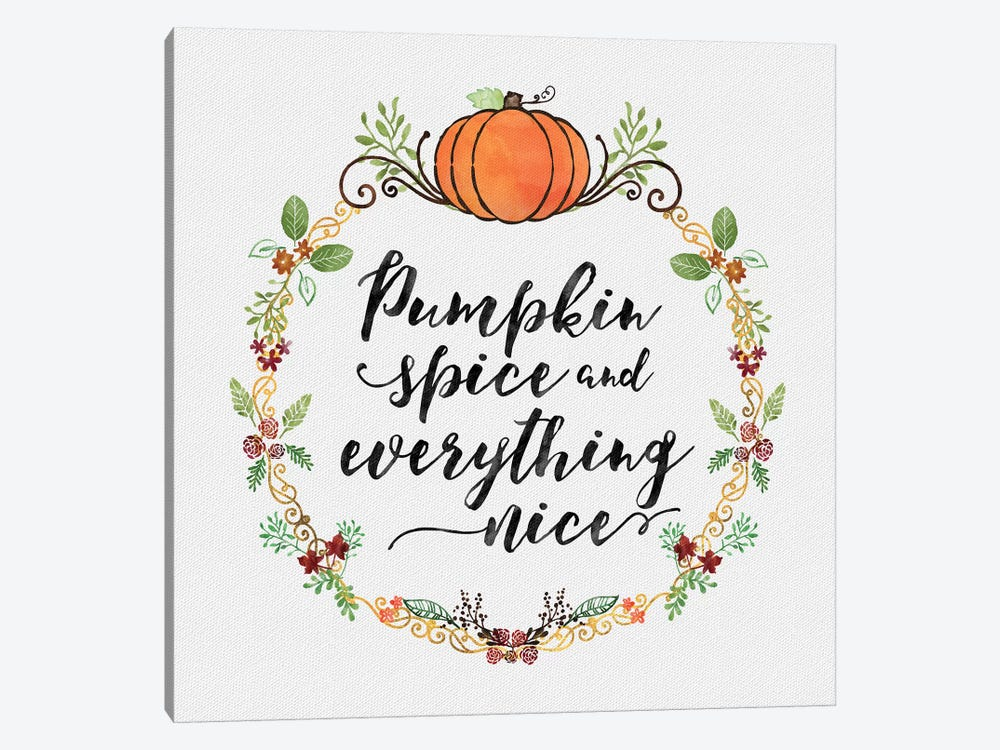 Pumpkin Spice Sentiment II by Noonday Design 1-piece Canvas Wall Art
