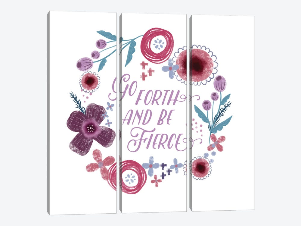 Fierce Girl I Fierce by Noonday Design 3-piece Canvas Print