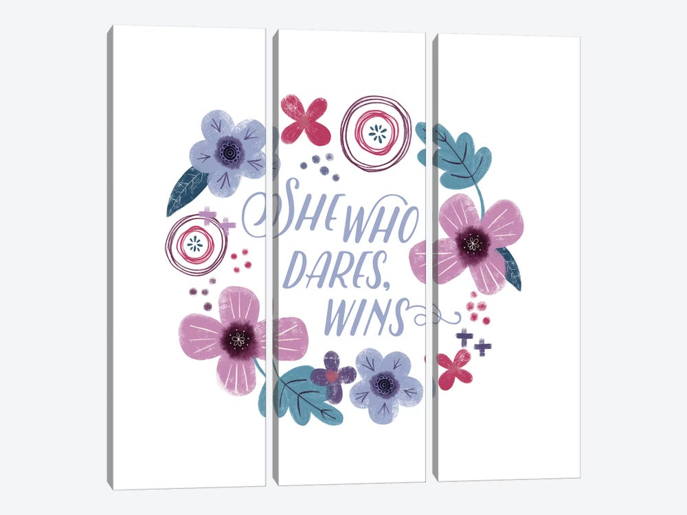 Fierce Girl II Dares by Noonday Design 3-piece Canvas Wall Art