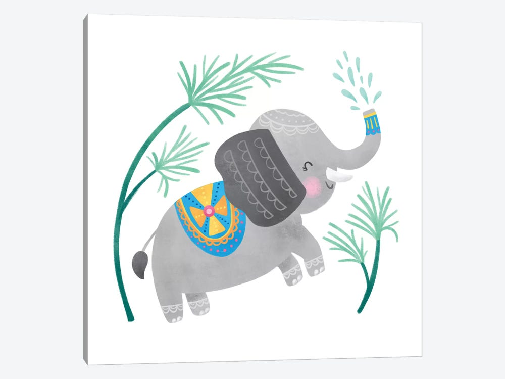 Playful Pals -Elephant by Noonday Design 1-piece Canvas Print