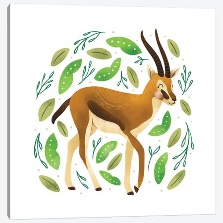 Safari Cuties Gazelle Canvas Print #NDD146} by Noonday Design Canvas Wall Art