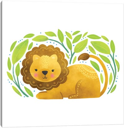Safari Cuties Lion Canvas Art Print