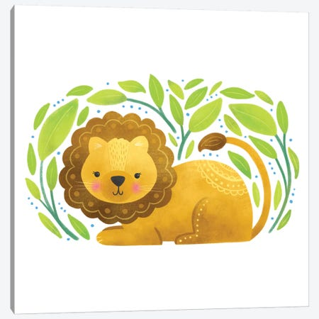 Safari Cuties Lion Canvas Print #NDD147} by Noonday Design Canvas Artwork