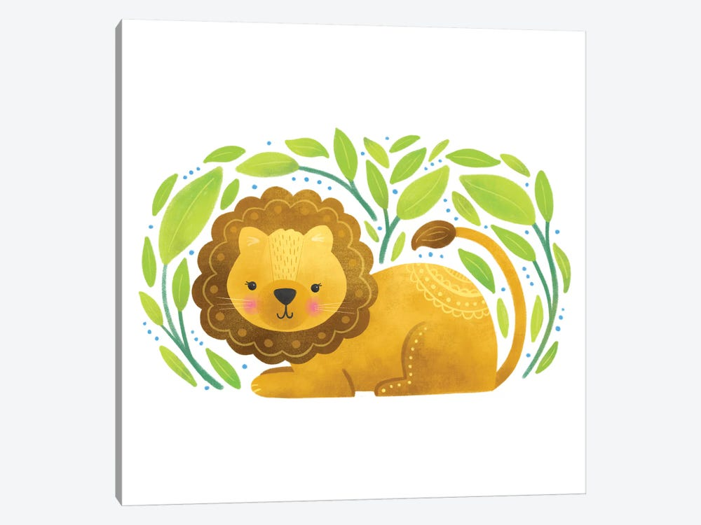 Safari Cuties Lion by Noonday Design 1-piece Canvas Wall Art