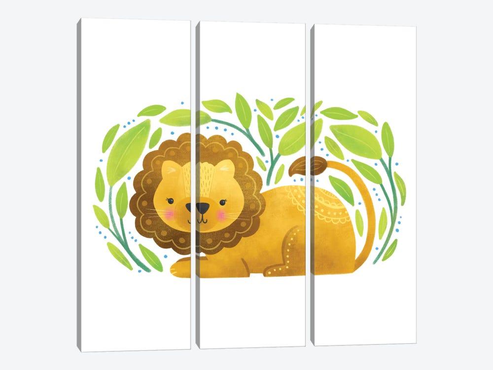 Safari Cuties Lion by Noonday Design 3-piece Canvas Wall Art