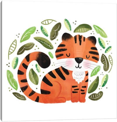 Safari Cuties Tiger Canvas Art Print